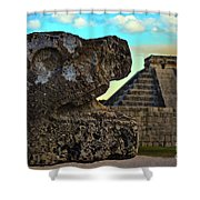 Kukulkan Pyramid At Chichen Itza In The Yucatan Of Mexico Shower Curtain