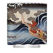 Kuniyoshi: Oban Print Shower Curtain