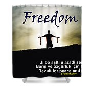 Kurdish Peace And Freedom Poster Shower Curtain