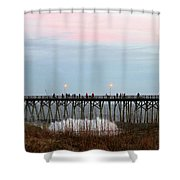 Kure Beach Pier Shower Curtain