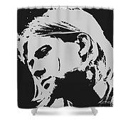 Kurt Cobain Poster Art Shower Curtain