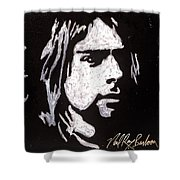 Kurt Kobain Shower Curtain