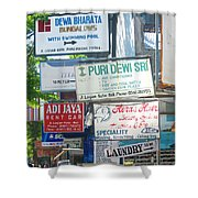 Kuta Street Signs -- Bali Shower Curtain