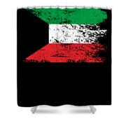 Kuwait Shirt Gift Country Flag Patriotic Travel Asia Light Shower Curtain