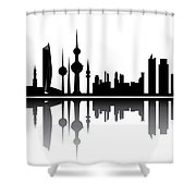 Kuwait Skyline Shower Curtain