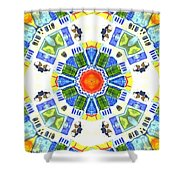 KV3 Shower Curtain by Writermore Arts