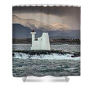 Kvitholmen Lighthouse Shower Curtain