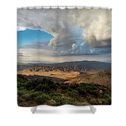 Kwaaymii Point Monsoon Shower Curtain