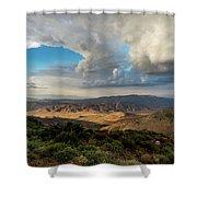 Kwaaymii Point Monsoon Shower Curtain