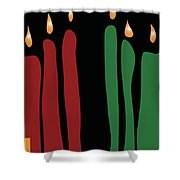 Kwanzaa Card Shower Curtain