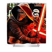 Kylo Ren And Assistants Shower Curtain
