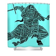 Kylo Ren - Star Wars Art - Blue Shower Curtain