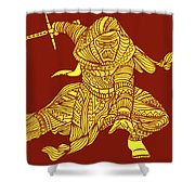 Kylo Ren - Star Wars Art - Red And Yellow Shower Curtain