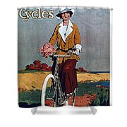 Kynoch Cycles - Bicycle - Vintage Advertising Poster Shower Curtain