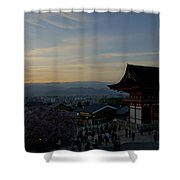Kyoto And Kiyomizu-dera At Sunset Shower Curtain