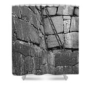 Kyoto Palace Stone Wall Shower Curtain