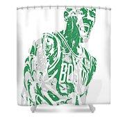 Kyrie Irving Boston Celtics Pixel Art 42 Shower Curtain