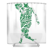 Kyrie Irving Boston Celtics Pixel Art 43 Shower Curtain