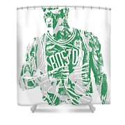 Kyrie Irving Boston Celtics Pixel Art 7 Shower Curtain