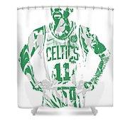Kyrie Irving Boston Celtics Pixel Art 8 Shower Curtain