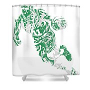Kyrie Irving Boston Celtics Pixel Art 9 Shower Curtain