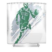 Kyrie Irving Boston Celtics Water Color Art 4 Shower Curtain