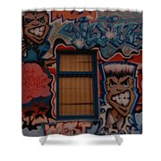 L A Urban Art Shower Curtain
