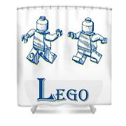 L Is For Lego Shower Curtain