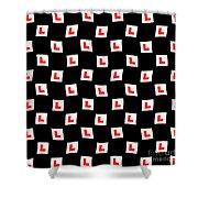 L-plate Wallpaper Shower Curtain