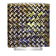 L T Z Abstract Shower Curtain