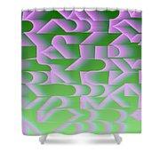 l13-FF9DEC-4x3-2000x1500 Shower Curtain
