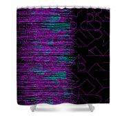 l14-FF00DD-3x3-1200x1200 Shower Curtain