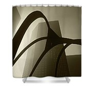 La Abstract Bw Shower Curtain
