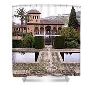 La Alhambra Garden Shower Curtain