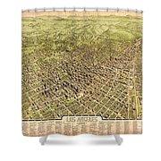 La Antique Map Shower Curtain