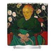 La Berceuse. Woman Rocking A Cradle. Augustine-alix Pellicot Roulin Shower Curtain