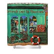 La Bicicletta Rossa Shower Curtain