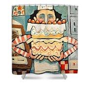 La Boulanger Francaise Shower Curtain