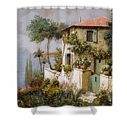 La Casa Giallo-verde Shower Curtain