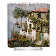 La Casa Giallo-verde Shower Curtain