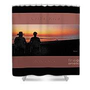 la Casita Playa Hermosa Puntarenas Costa Rica - Sunset Happy Couple Panorama Greeting Card Bold Shower Curtain