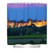 La Cite Carcassonne Shower Curtain by Brian Jannsen