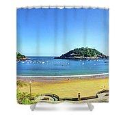 La Concha Bay San Sebastian Shower Curtain