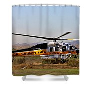 La County Fire Air Support Shower Curtain