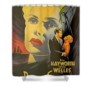 La Dame De Shanghai Shower Curtain by Georgia Fowler