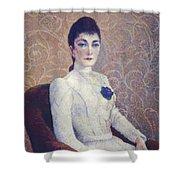 La Dame La Robe Blanche 1886 Shower Curtain