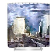 Paris La Defense Shower Curtain