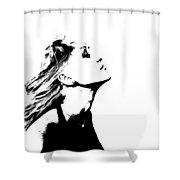 La Dolce Vita Lady I Shower Curtain