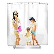 La Famille Shower Curtain