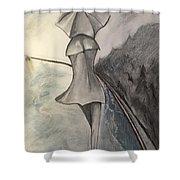 La Femme Au Parapluie Shower Curtain